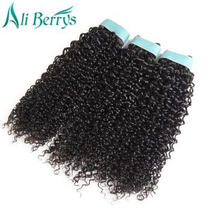Ali Berrys Hair Kinky Curly Human Hair Brazilian Hair Weave Bundles Double Weft 10-20 Inch Can Be Mixed Remy Hair Free Shipping