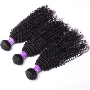 "CARA Brazilian Kinky Curly Human Hair Weaving Remy Hair Bundles Natural Color 10""-28"" 1 Piece"