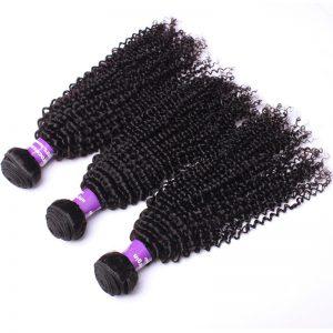 "CARA Brazilian Kinky Curly Human Hair Weaving Remy Hair Bundles Natural Color 10""-28"" 1 Piece"