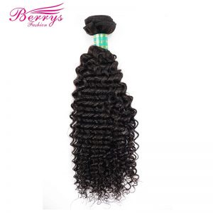 [Berrys Fashion] Kinky Curly Hair Bundles Brazilian Virgin Hair Natural Color 100% Unprocessed Human Hair Weaving Free Shipping
