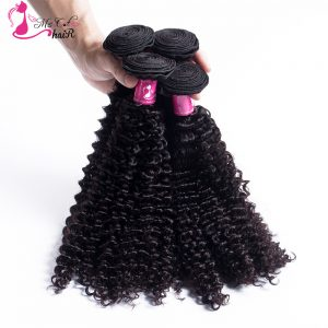"Ms Cat Hair Peruvian Kinky Curly Hair Bundles 1Pcs/lot Can Be Dyed And Bleached  8"" To 26"" Non Remy 100% Human Hair"