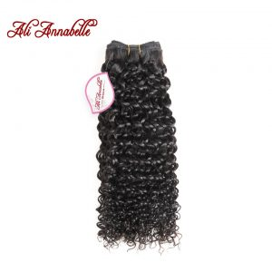"ALI ANNABELLE HAIR Malaysian Kinky Curly Hair Weave Bundles 100% Remy Human Hair Extensions 10""-28""inch Natural Color"