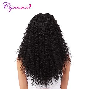 Cynosure Malaysian Afro Kinky Curly Hair Natural Black Hair Weave Human Hair Bundles Double Weft 8-28 inch 1pc Non-Remy Hair