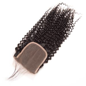 Oxeye girl Kinky Curly Weave Human Hair Lace Closure With Baby Hair 4x4 Malaysian Hair Closure Free Part Remy Hair Bundles