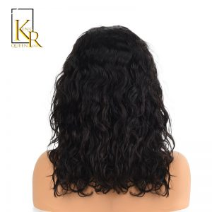"Lace Front Human Hair Wigs For Black Women Remy Brazilian Wavy Short Bob Wigs Pre Plucked With Baby Hair 8-16"" King Rosa Queen"