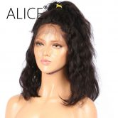 ALICE Pre Plucked Full Lace Human Hair Wigs With Baby Hair 10-16 Inch Remy Brazilian Wigs For Black Women Bleached Knots