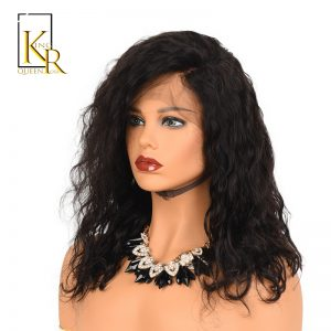 Lace Front Human Hair Bob Wigs For Black Women Pre Plucked With Baby Hair 130% Wavy Short Wigs Remy Brazilian King Rosa Queen