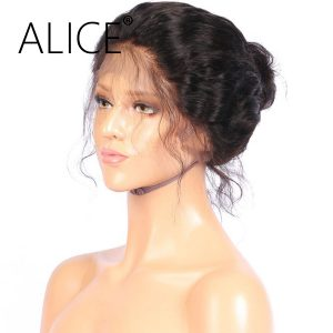 ALICE Short 360 Lace Frontal Wig With Baby Hair Bleached Knots 10-16'' Remy Brazilian Bob Wigs For Black Women Natural Hairline