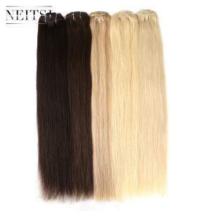"Neitsi Brazilian Straight Machine Made Remy Clip In Hair Full Head 100% Human Hair Extensions 20"" 100g 7pcs 16 Clips 10 Colors"