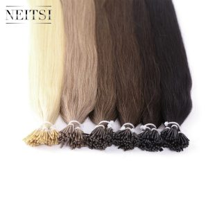 Neitsi Indian Straight Human Fusion Hair I Tip Stick Keratin Remy Hair Extensions 28 inches 1.0 g/s 50g 6 Colors Available