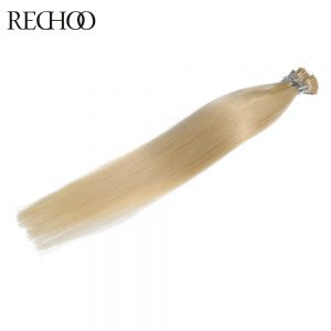 Rechoo New Arrival I-tip Pre-bonded Hair Extensions Straight Brazilian  Non-remy Hair Pre-bonded 100 gram I-tip Top quality hair