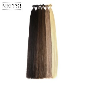 Neitsi Brazilian Straight Human Fusion Hair I Tip Stick Keratin Double Drawn Remy Hair Extension 1.0 g/s 100g 28 inches 6 Colors