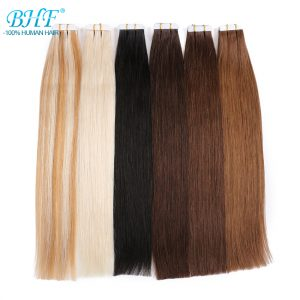 Tape In Human Hair Extensions Double Drawn Remy Tape In Brazilian Straight Hair On Adhesives 20pcs /set  Invisible Hair