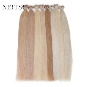 "Neitsi Indian Straight Machine Made Micro Ring Remy Hair 100% Nano Ring Beads Human Hair Extensions 20"" 1.0g/s 50g 20 Colors"