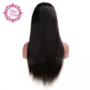 Slove Hair Straight Wig Full Lace Human Hair Wigs For Black Women Brazilian Human Remy Hair Natural Hairline With Baby Hair Wigs