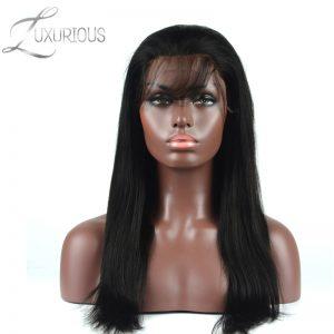 Luxurious 180% Density Full Lace Human Hair Wigs For Black Women 8-26inch Long Straight Brazilian Virgin Baby Hair