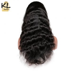 KL Hair Full Lace Human Hair Wigs Body Wave Natural Color Brazilian Remy Hair Lace Wigs For Black Women With Baby Hair