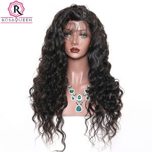 Rosa Queen Full Lace Human Hair Wigs For Black Women Loose Wave Brazilian Remy Hair Wig 180% Density Pre Plucked With Baby Hair