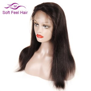 "Soft Feel Hair Full Lace Human Hair Wigs For Black Women Pre Plucked Brazilian Wigs With Baby Hair Non Remy Straight Wig 12""-18"""
