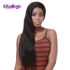 CCollege Hair Full Lace Human Hair Wigs Straight Brazilian Remy Hair Swiss Lace For Black Women With Baby Hair Free Shipping