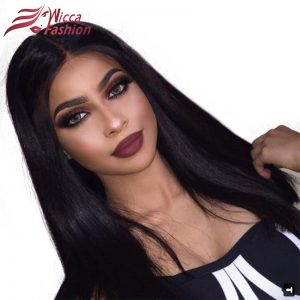 Dream Beauty 150 Density Full Lace Human Hair Wigs With Baby Hair Silky Straight Brazilian Remy Hair Wigs For Black Women