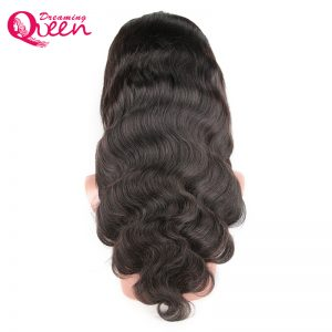 Dreaming Queen Pre-Plucked 360 Lace Frontal Wigs Brazilian Remy Hair Body Wave 150% Density Glueless Lace Wigs With Baby Hair