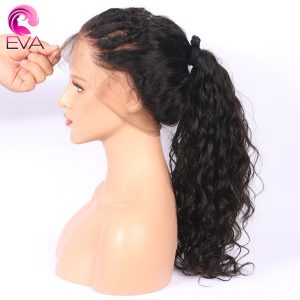 Eva Hair 250% Density 360 Lace Frontal Wig Pre Plucked With Baby Hair Natural Wave Brazilian Remy Human Hair Wig For Black Women
