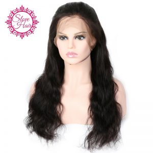 Slove 360 Lace Frontal Wigs For Black Women 150% Density Pre Plucked Brazilian Body Wave Human Hair Wigs Remy Hair Natural Black