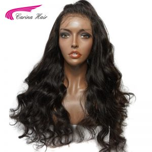 Carina Hair 360 Lace Frontal Wigs For Black Women Body Wave Natural Color Pre-Plucked Natural Hairline Peruvian Remy Human Hair