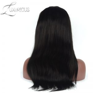 Luxurious 180% Density Silk Base Lace Front Human Hair Wigs For Black Wowen Straight Brazilian Remy Hair With Baby Hair