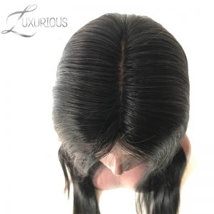 Luxurious 150% Density Silk Base Full Lace Wigs Straight Natural Color Brazilian Remy Human Hair For Black Women