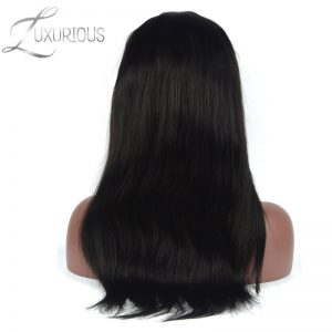 Luxurious 180% Density Silk Base Full Lace Human Hair Wigs For Black Women Brazilian Virgin Hair Wig Natural Color Bleach Knots