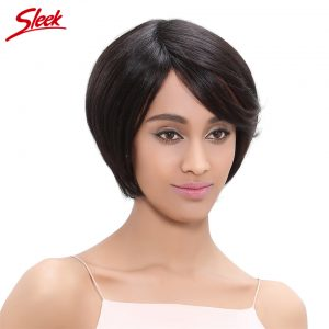 Sleek Human Hair Bob Wigs Brazilian Virgin Hair 10 Inch Color 1B/30# 100% Human Hair Short Wigs for African Americans Lily
