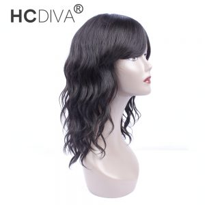 HCDIVA Brazilian Natural Wave Human Hair Wigs For Black Women Long Length 18 Inch Non Remy Hair Wigs Free Shipping