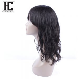 HC Brazilian Human Hair Wigs For Black Women Natural Wave 150% Density Natural Color Non Remy Hair Wig Free Shipping