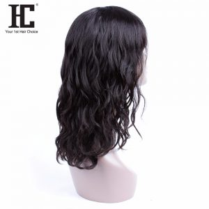 HC Human Hair Wigs For Black Women Brazilian Hair Wigs Natural Wave 18 Inch Non Remy Wig Fashion Style Free Shipping