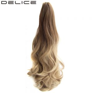 [DELICE] 55cm/22inches Women's Colorful Ombre Ponytail Synthetic Hair Long Wavy Claw Ponytails 170g/piece