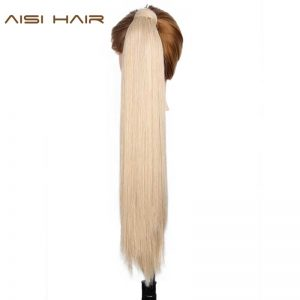 AISI HAIR 100g 16 Colors Available High Temperature Fiber Synthetic Fake Hair Wraparound Ponytail Extensions for Women