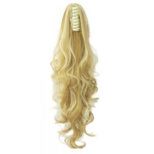 Soowee Long Curly Claw Ponytail Clip in Hair Extensions Hairpiece Pony Tail Synthetic Hair Accessories