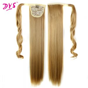 Deyngs 24inch Straight False Hair Ponytail Clip In Hair Tail Hairpieces With Hairpins Synthetic Hair Pony Tail Hair Extensions