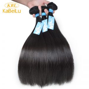 "KBL Brazilian Virgin Hair Straight 100% Human Hair Weave Bundles Unprocessed Hair Weft Natural Color 10""-40"""