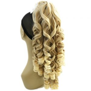 Soloowigs Bouncy Curly Long Synthetic Hair 24inch/60cm Claw In Ponytails for American and European Women 5 Color
