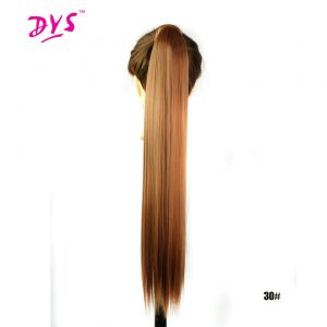 Deyngs Synthetic Drawstring Ponytail Hair Extensions Women's Long Silky Straight Fake Pony Tail Hair Tress 24inch Heat Resistant