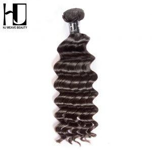 HJ Weave Beauty Human Hair Bundles Brazilian Virgin Hair Natural Wave Natural Color Free Shipping
