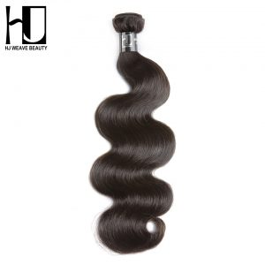 Brazilian Virgin Hair Body Wave 100% Human Hair Bundles Natural Color Free Shipping HJ Weave Beauty