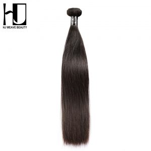 Brazilian Virgin Hair Straight Human Hair Bundles Natural Color Free Shipping HJ Weave Beauty