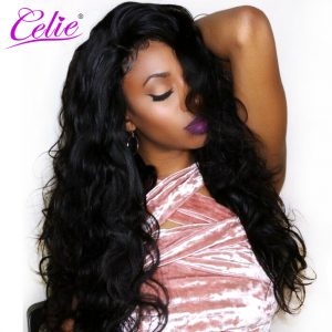 Celie Hair Body Wave Brazilian Virgin Hair 100% Unprocessed Human Hair Bundles Natural Black Color Brazilian Hair Weave Bundles