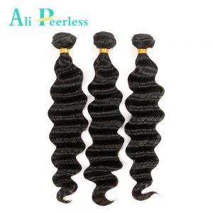 "Ali Peerless Brazilian Virgin Hair Loose wave 10""-28"" 100% Human Hair Weave Bundles Unprocessed Hair extension 1pc Natural color"