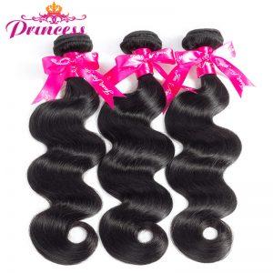 Beautiful Princess Brazilian Virgin Hair Body Wave Natural Color Human Hair Weave Bundles 12''-24''inch