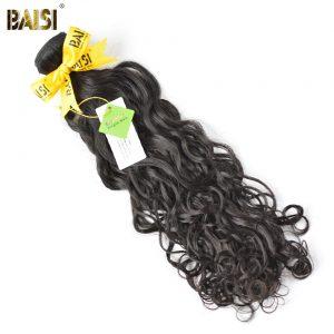 BAISI 100% Unprocessed Brazilian Virgin Hair Water Wave, Human Hair Bundles Natural Color Free Shipping